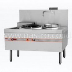 FLAME MATE Gas Chinese Wok Range 1 Ring 1 Soup Pot - Slim Type ECR-1-NF-E-L