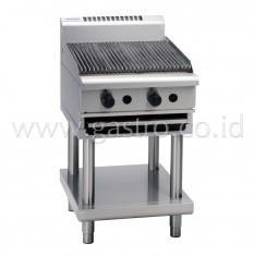 WALDORF 800 Series Gas Chargrill 600 mm on SS Stand  CH8600G-LS