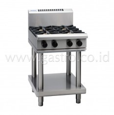 WALDORF 800 Series Gas Stove 4 Burner on SS Stand  RN8400G-LS