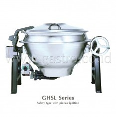 HATTORI Gas Tilting Kettle 140 Liters GHS-32 / GHSL-32