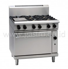 WALDORF 800 Series Gas Range 6 Burner on Gas Oven GN2/1  RN8610G