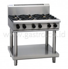 WALDORF 800 Series Gas Stove 6 Burner on SS Stand  RN8600G-LS
